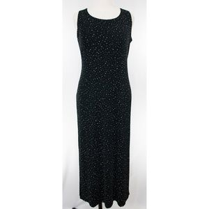 Black dotted  2 piece maxi dress sz 14 NWOT!